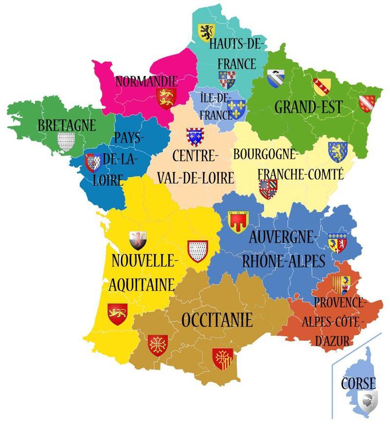 Francia Regioni Cartina.Quali Sono Le Regioni Della Francia Hinative