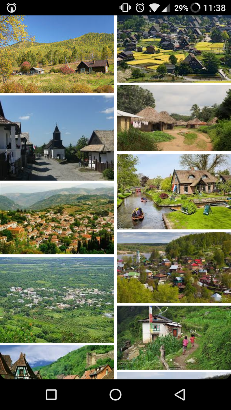 what is the difference between village and town