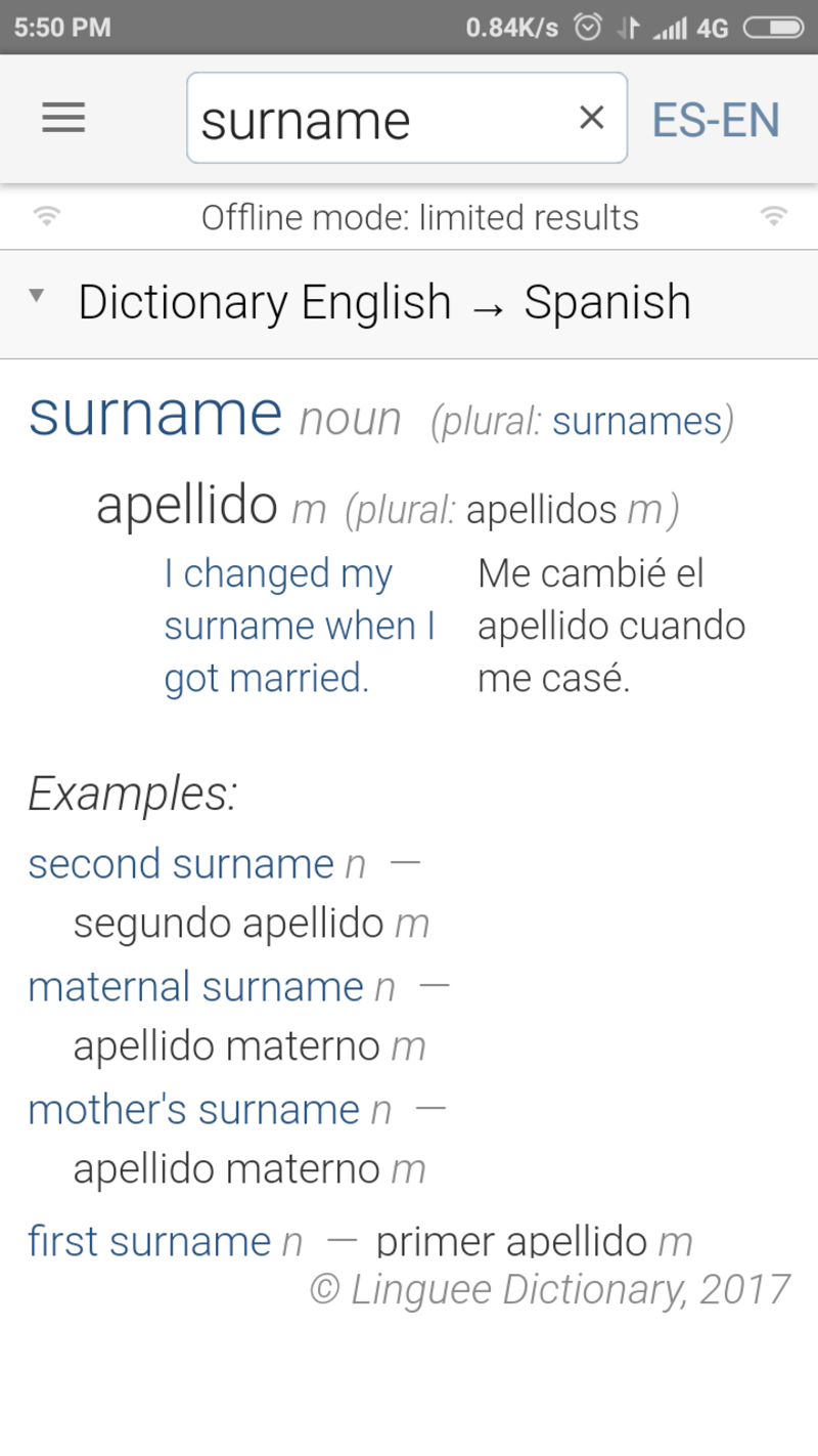 surname example
