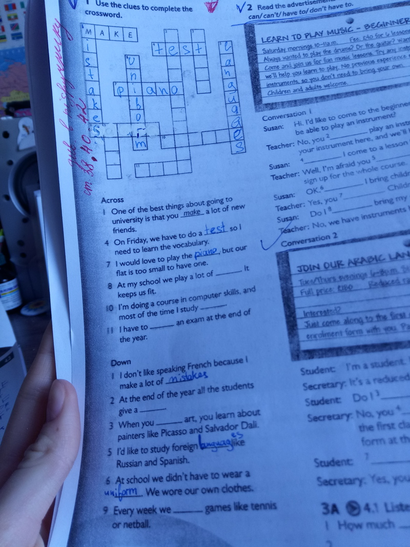 Help me with crossword please! | HiNative
