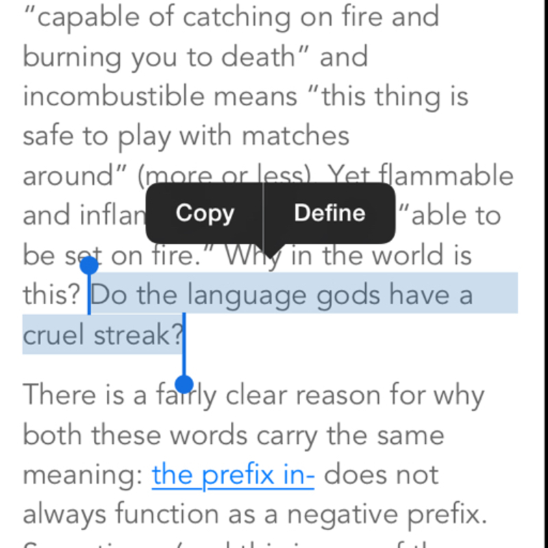 Streak meaning in text